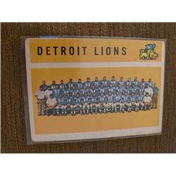 Detroit Lions vintage team card