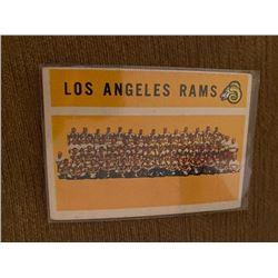 Los Angeles Rams Vintage team Card