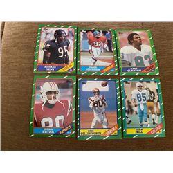 1986 Topps Richard Dent, Vance Johnson, Irving Fryer and more