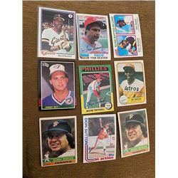 Vintage Baseball Card Lot with stars