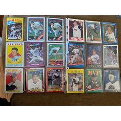 Roger Clemens 18 card lot