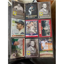 9 Yankee Cards with Jeter and Mantle