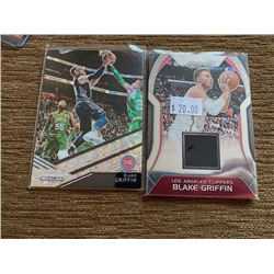 Blake Griffin jersey card and Prizm Disco Card