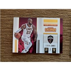 Lebron James Contenders hall of fame insert