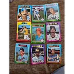 1975 Topps Baseball Cards Lot