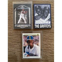 Ken Griffey Jr Timeless Treasures 999 made and 2 other griffey cards