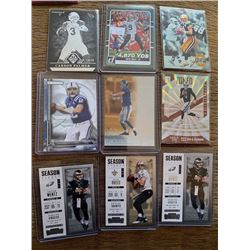 QB Lot: Farve manning 2nd yr card  Brees Wentz Luck Carr Palmer numbered to 99