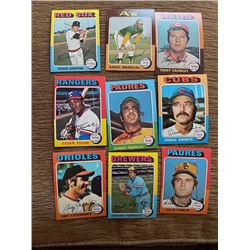 1975 Topps Doug Griffin, Cesar Tovar, Danny Frisella and more