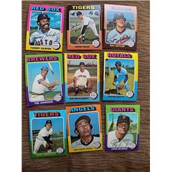 1975 topps lot Tommy Harper, John Knox, Tim Johnson and more
