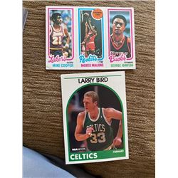 Moses Malone 1980 Topps  Larry Bird 1989 hoops