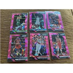 Prizm Pink cracked ice lot With Stars Lillard and paul