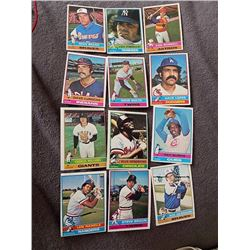 1976 Topps Baseball Cards Lot Lou Piniella