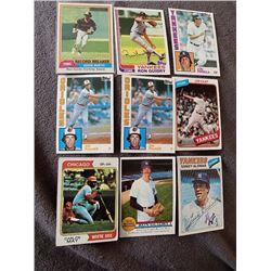 Vintage Baseball Cards Lot Jim Palmer Ozzie Smith