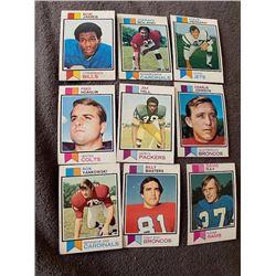 1973 Topps Football lot Ron Yankowski, Billy Masters, Bob James and more