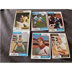 1974 Topps Matt Alou, Al Downing, Tom Murphy and more