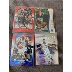 Prizm basketball lot Anthony Davis Refractor Kevin Durant, Karl Malone Red and Blue