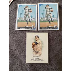 Mickey Mantle 3 Card lot