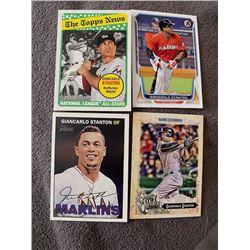 Giancarlo Stanton 4 card Lot