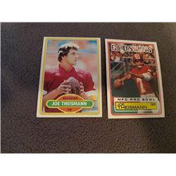 Joe Theismann 2 card lot