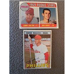 Gene Mauch 1967 and 1969 Topps Don Money RC
