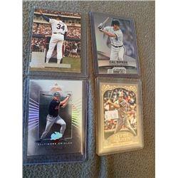 Cal Ripken and Nolan Ryan 4 card lot