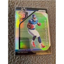 Saquon Barkley Prizm Rookie Introductions Silver RC