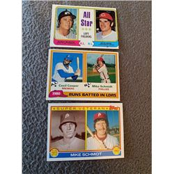 Pete Rose Bobby Murcer 1974 All star: Mike schmidt lot