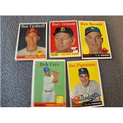 1958 Topps 5 Card lot