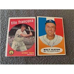 Tito Francona 1959 and Walt Alston Lot