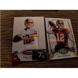 Kirk Cousins Bowman Sterling rc  and Topps Platinum xfractor rc lot