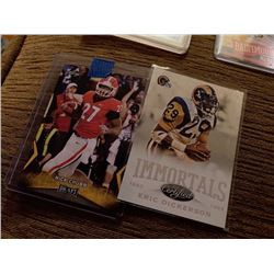 Nick Chubb RC with Eric Dickerson Insert