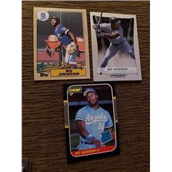 Bo Jackson Lot with a Topps and Leaf RC