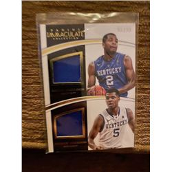 Andrew and Aaron Harrison Immaculate dual jersey