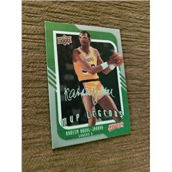 Kareem Abdul Jabbar MVP Legends silver signature