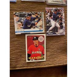 Christian Yelich 3 card lot