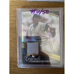 Pedro Martinez Topps Gold Label jersey card