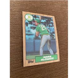 Mark Mcgwire 1987 topps rc