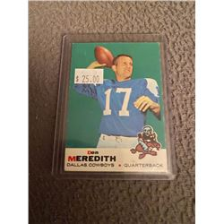 Don Meredith 1969 Topps