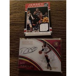 Demarre carroll Immaculate Auto and jersey card