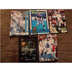5 Troy Aikman Cards with a RC