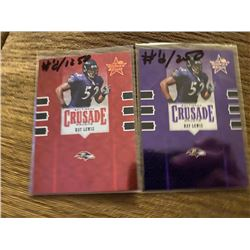 Ray Lewis Crusade lot both numbered