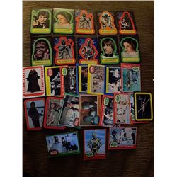 Star Wars Vintage Card lot with Stickers