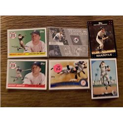 Mickey Mantle 6 card insert lot