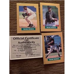 Frank Thomas 3 Gold Cards