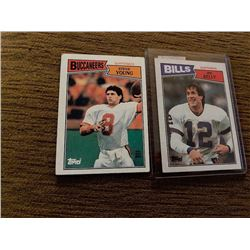 Steve Young Jim kelly 1987 topps