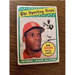 Bob Gibson 1969 Topps The Sporting news