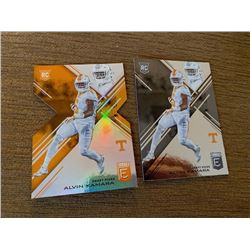 Alvin Kamara Elite RC lot with die cut rc