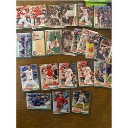Topps Holiday baseball card lot with stars