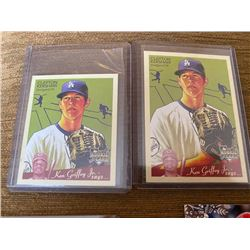 Clayton Kershaw Goudey RC and Mini RC