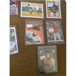 Lot of 5 Cal Ripken Cards with inserts